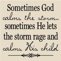 Calm the Child in the Storm